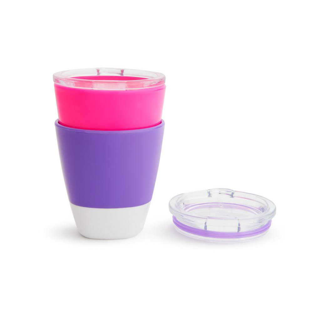 Munchkin набор цветных стаканчиков 2 шт 18+ Розовый Фиолетовый