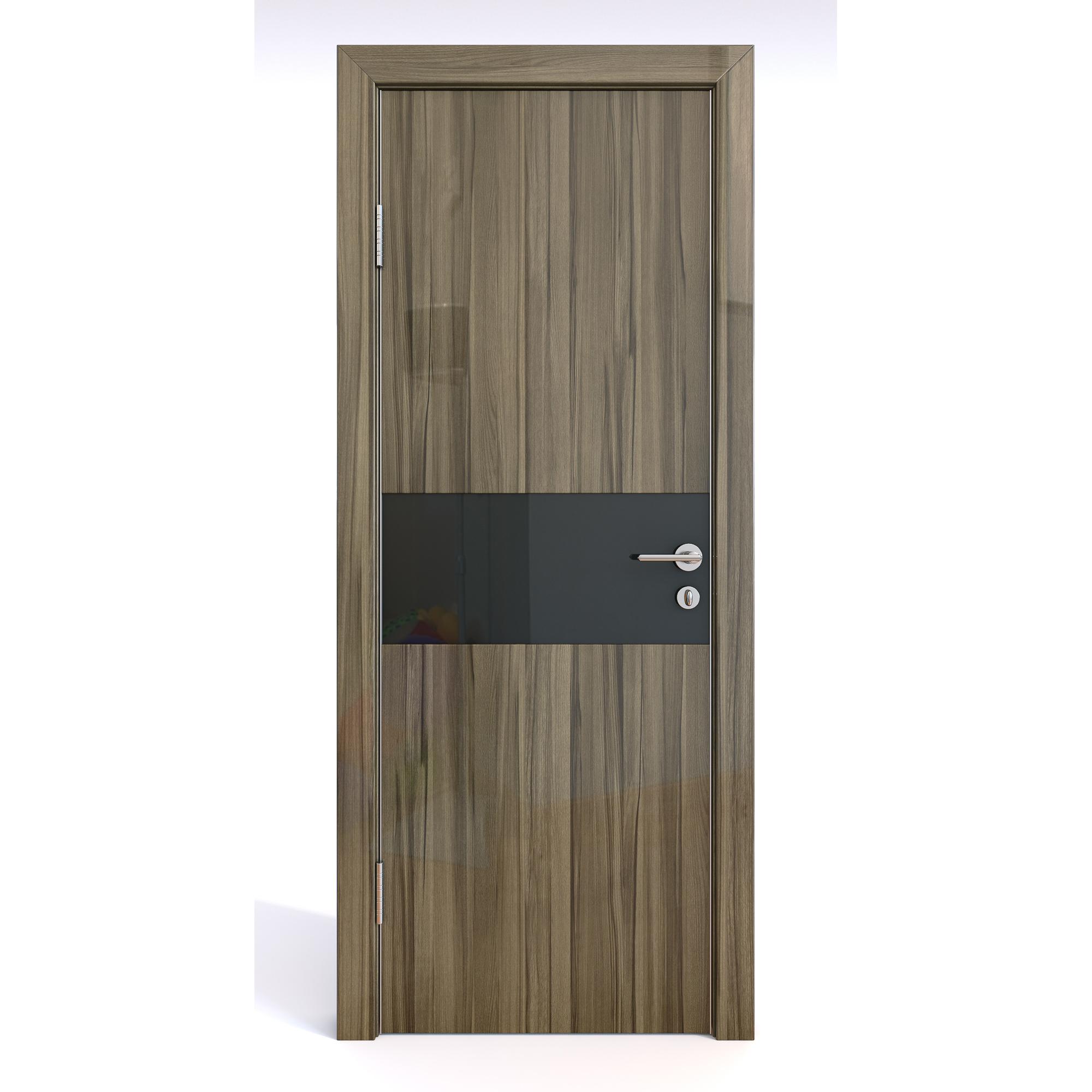 Межкомнатная шумоизоляционная дверь ДО-601/1 Сосна глянец/черное 200х80 фото