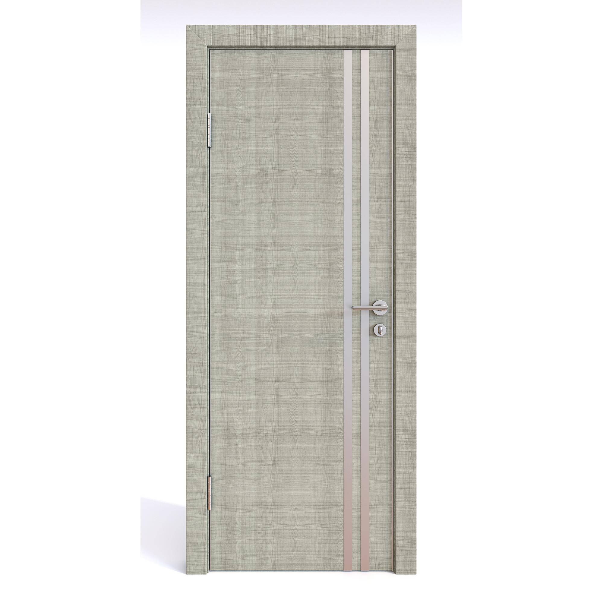 Межкомнатная шумоизоляционная дверь ДГ-606 Серый дуб 200х80 Дверная Линия фото