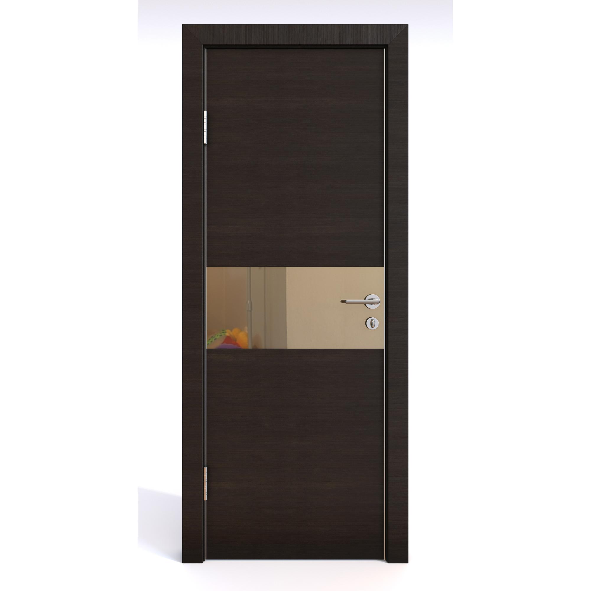 Межкомнатная дверь ДО-501/1 Венге горизонтальный/бронза 200х70 Дверная Линия фото