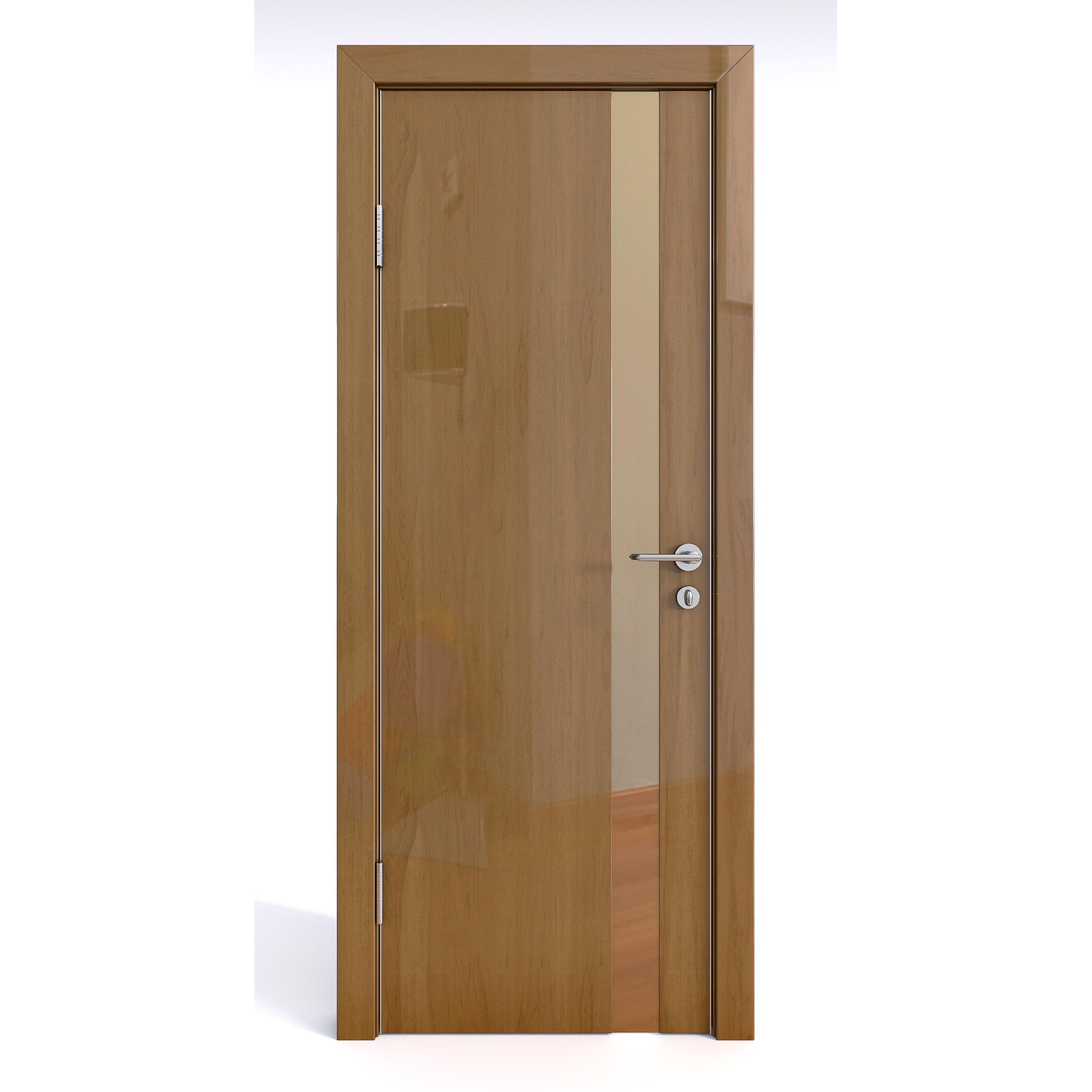 Межкомнатная дверь ДО-507 Анегри темный глянец/бронза 200х60 фото