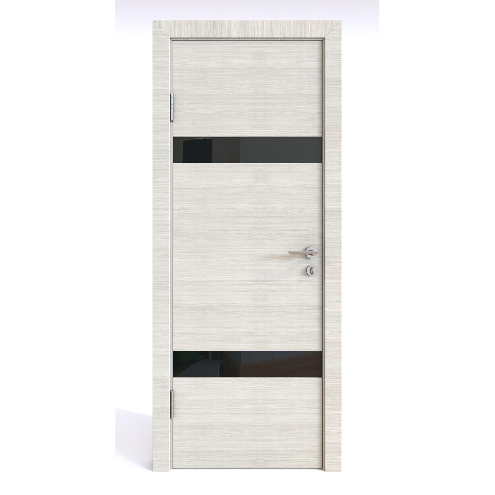 Межкомнатная шумоизоляционная дверь ДО-602 Ива светлая/черное 200х70 фото