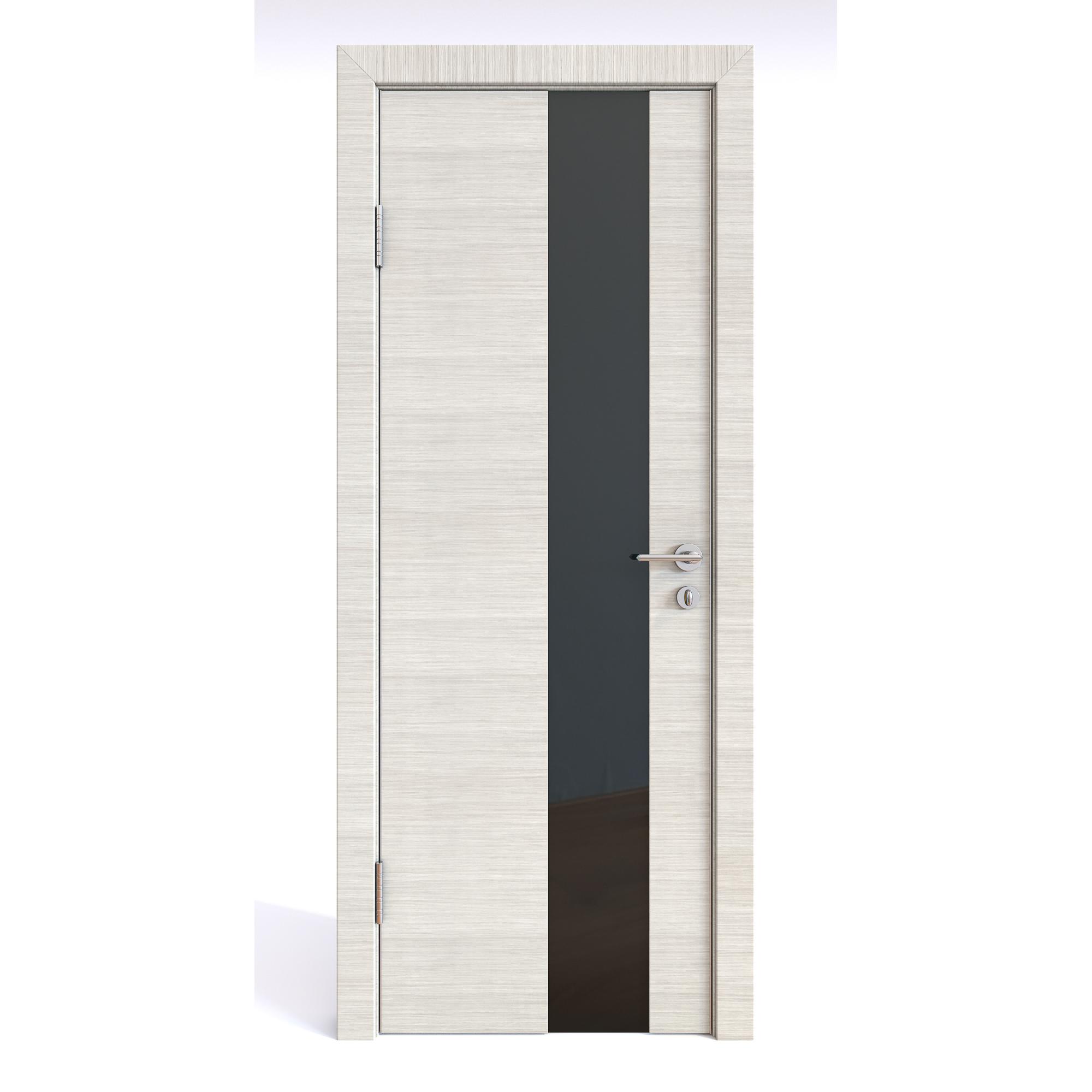 Межкомнатная шумоизоляционная дверь ДО-604 Ива светлая/черное 200х60 Дверная Линия фото
