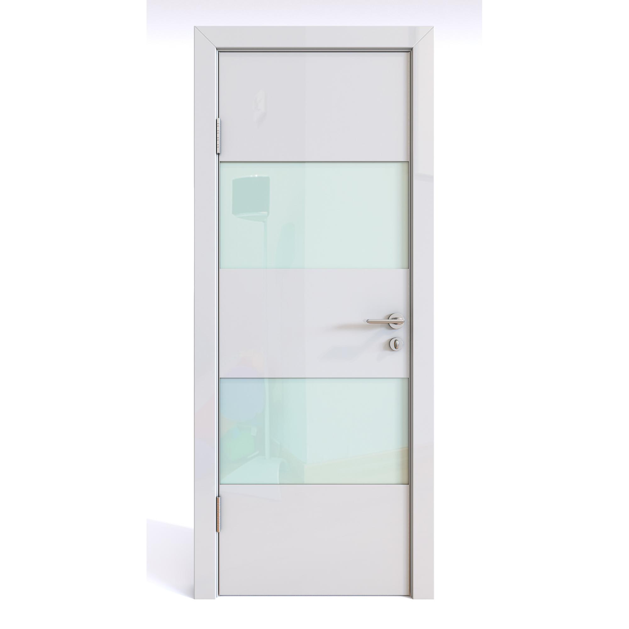 Межкомнатная шумоизоляционная дверь ДО-608 Белый глянец/белое 200х70 фото
