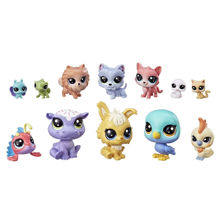 Набор фигурок Hasbro Littlest Pet Shop из 12 предметов