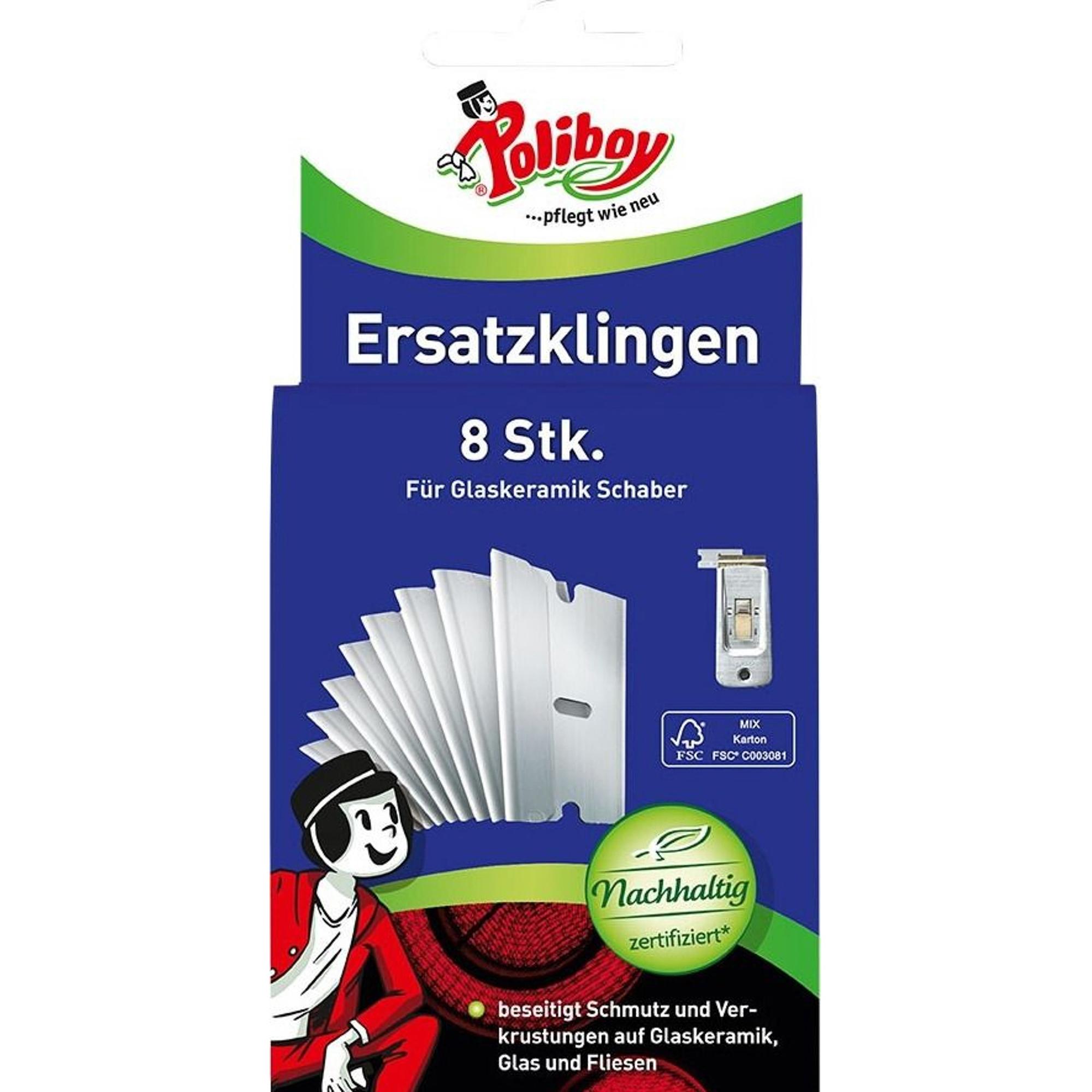 Лезвия для скребка Poliboy 9200112 8 шт metzger лезвия для скребка педикюра для скребка 892 3 и 892 4 упаковка 10 лезвий