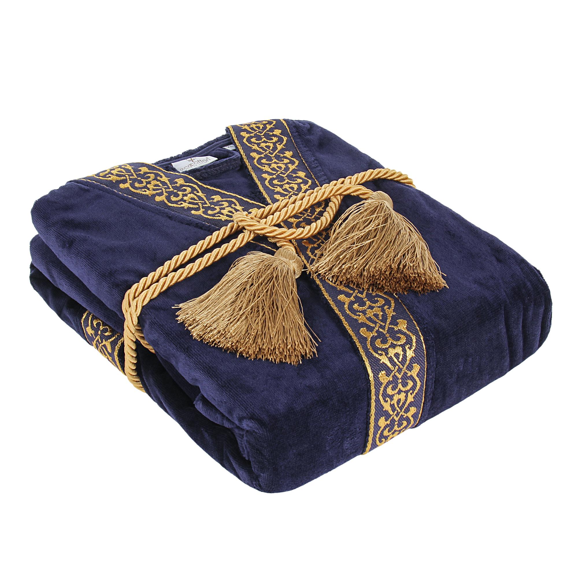 Халат мужской Ecocotton sehzade navy blue размер xxl