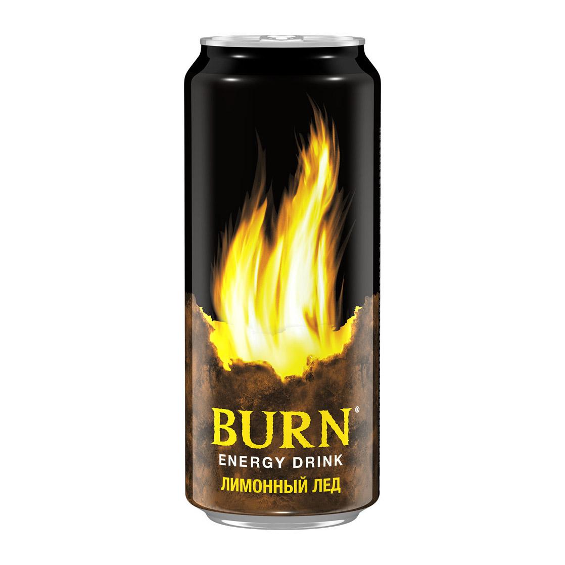 Напиток энергетический Burn Лимонный Лед 500 мл напиток энергетический black monster assault 500 мл