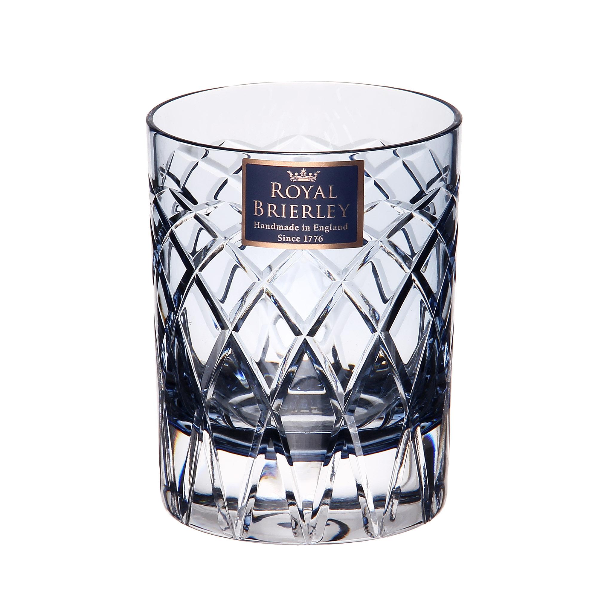Купить Стакан для виски Dartington crystal harris ink blue 230мл, Великобритания, хрусталь ручной работы (24% свинца)