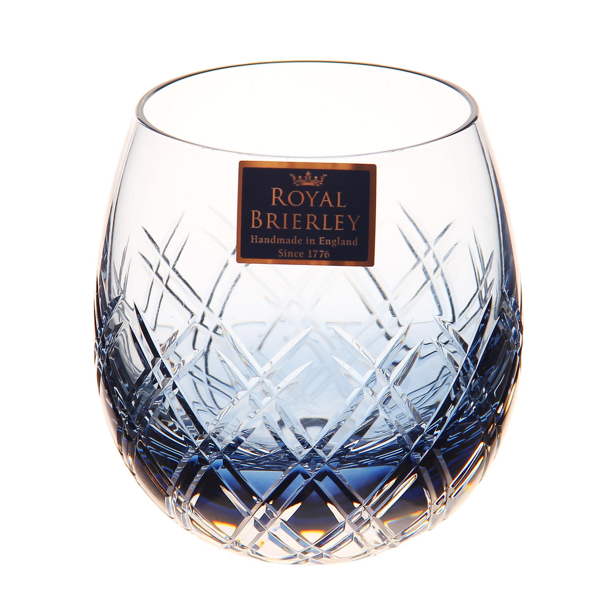 Купить Стакан для виски Dartington crystal barra ink blue 310мл, Великобритания, хрусталь ручной работы (24% свинца)
