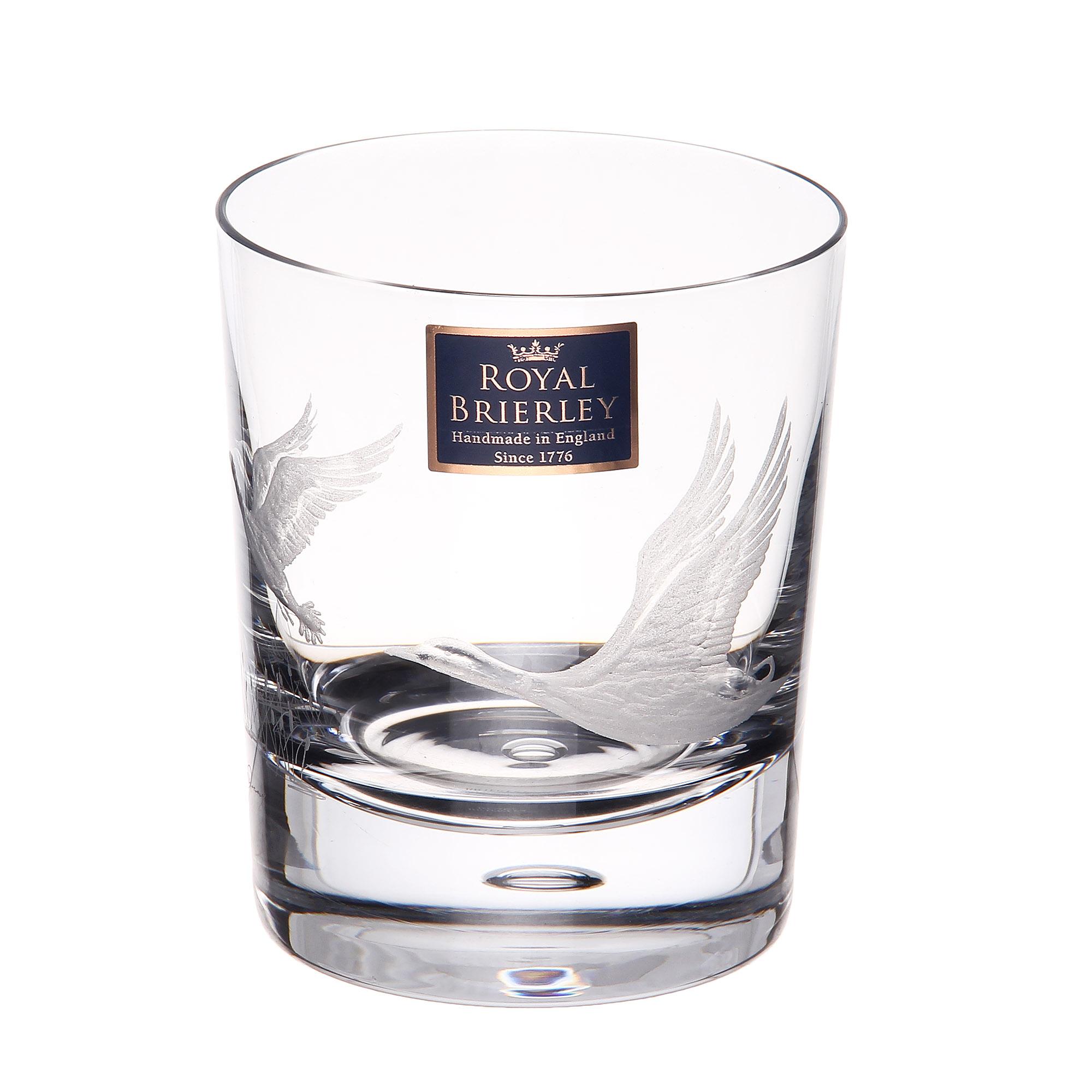 Купить Стакан для виски Dartington crystal engraved утки 300мл, Великобритания, хрусталь ручной работы (24% свинца)
