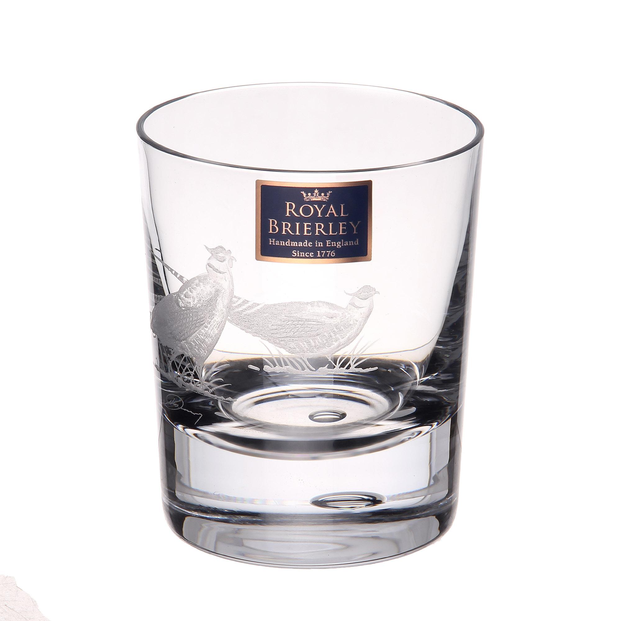 Купить Стакан для виски Dartington crystal engraved фазан 300мл, Великобритания, хрусталь ручной работы (24% свинца)