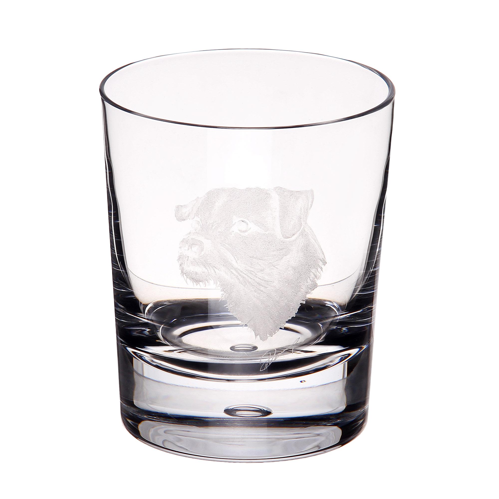 Купить Стакан для виски Dartington crystal engraved терьер 300мл, Великобритания, хрусталь ручной работы (24% свинца)