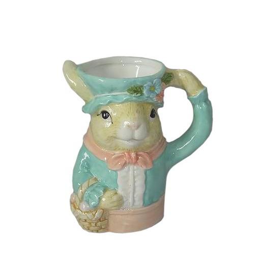 Кружка Royal gifts Кролик керамика 14х12 см, Бежевый;бирюзовый