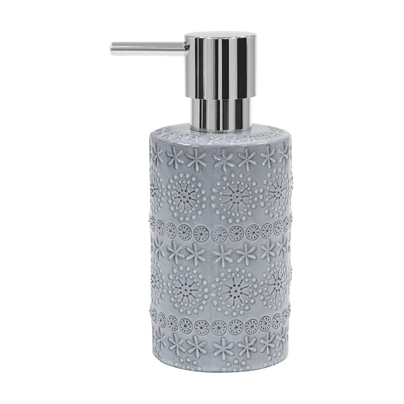 Фото - Дозатор для жидкого мыла Spirella Relief серый 7х15,5 см дозатор для жидкого мыла spirella sydney серый 7х18 5 см