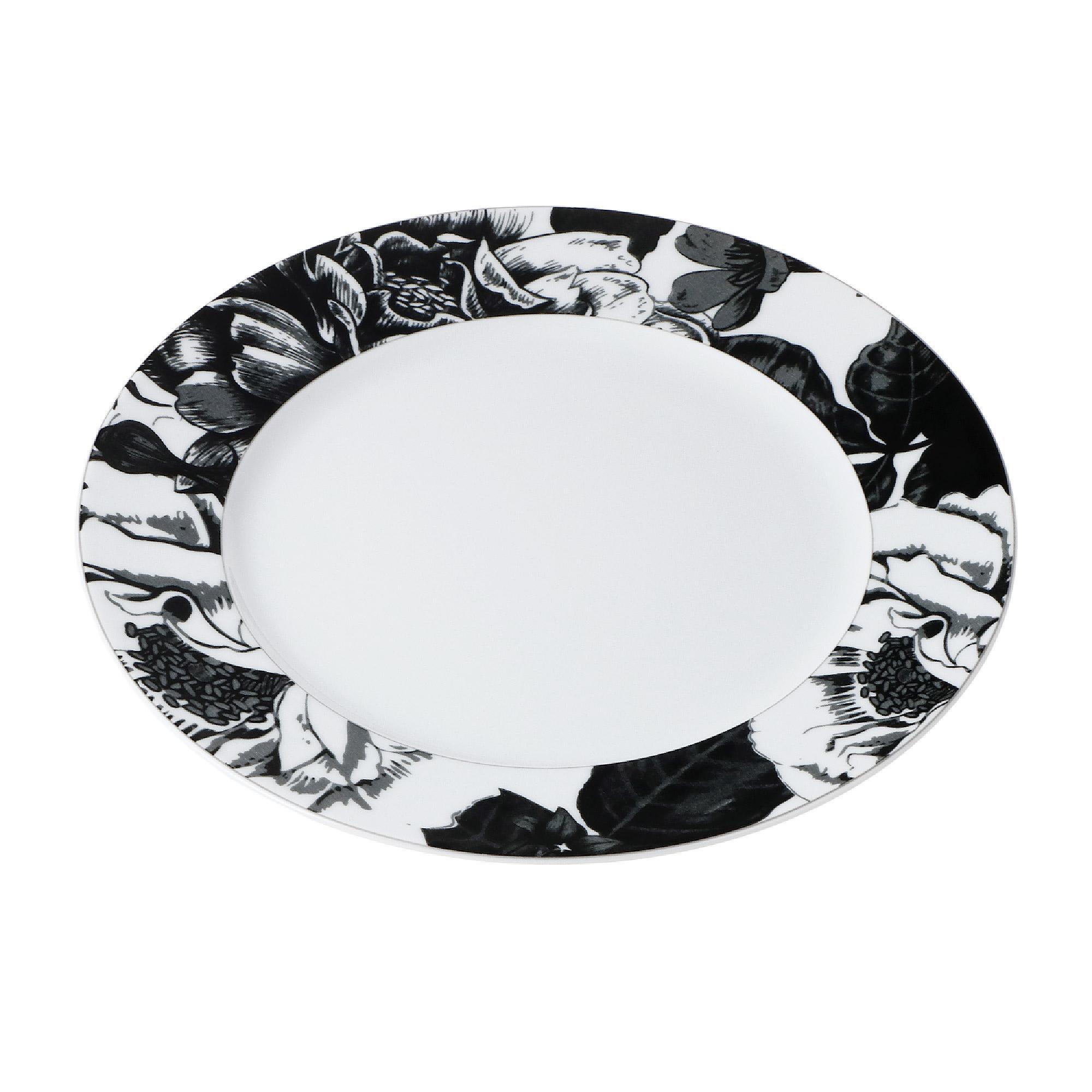 Тарелка Yves de la Rosiere обеденная Черный Базилик 27 см тарелка плоская yves de la rosiere cocooning 27 см