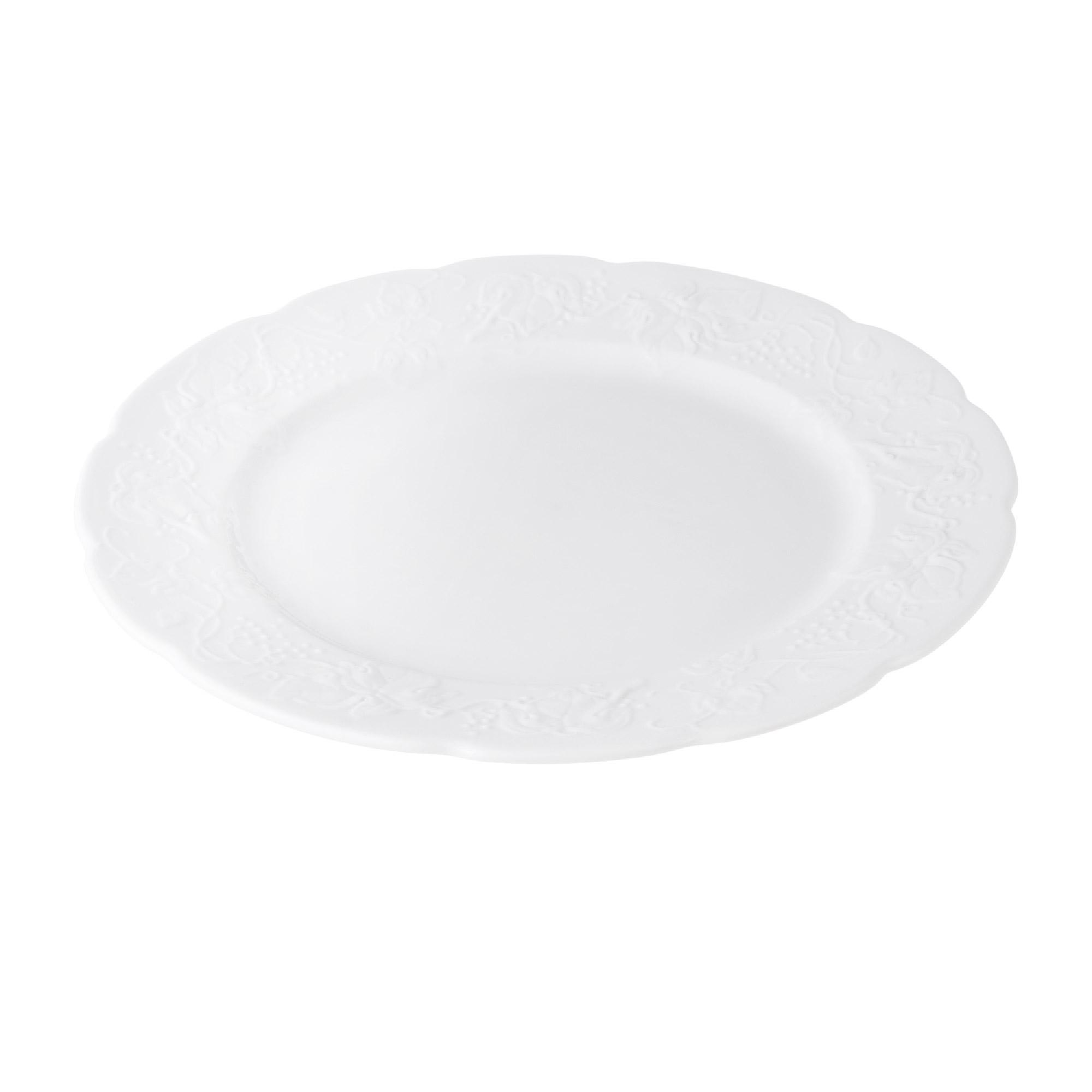Тарелка Yves de la Rosiere плоская Blanc 26 см