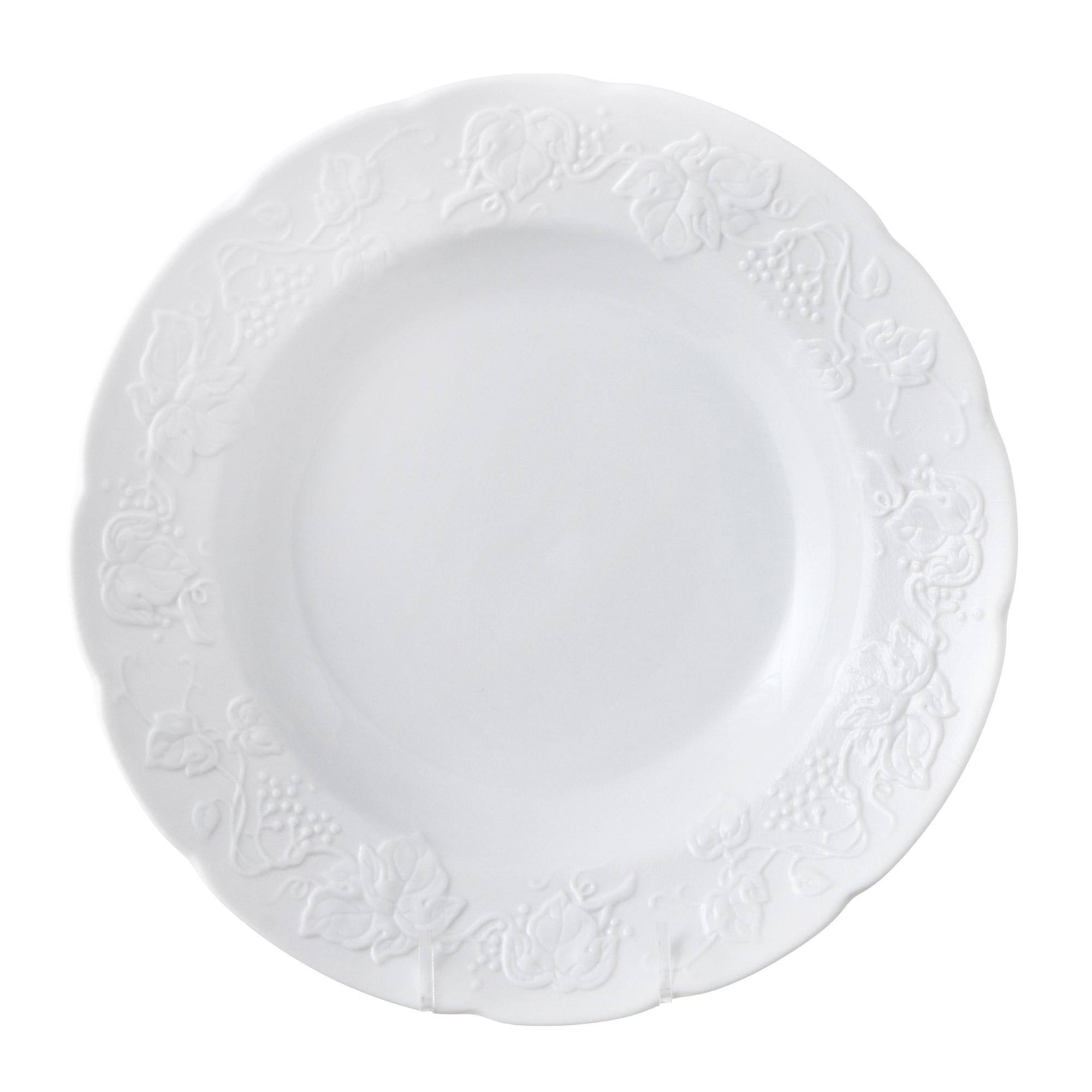 Тарелка Yves de la Rosiere глубокая Blanc 22 см