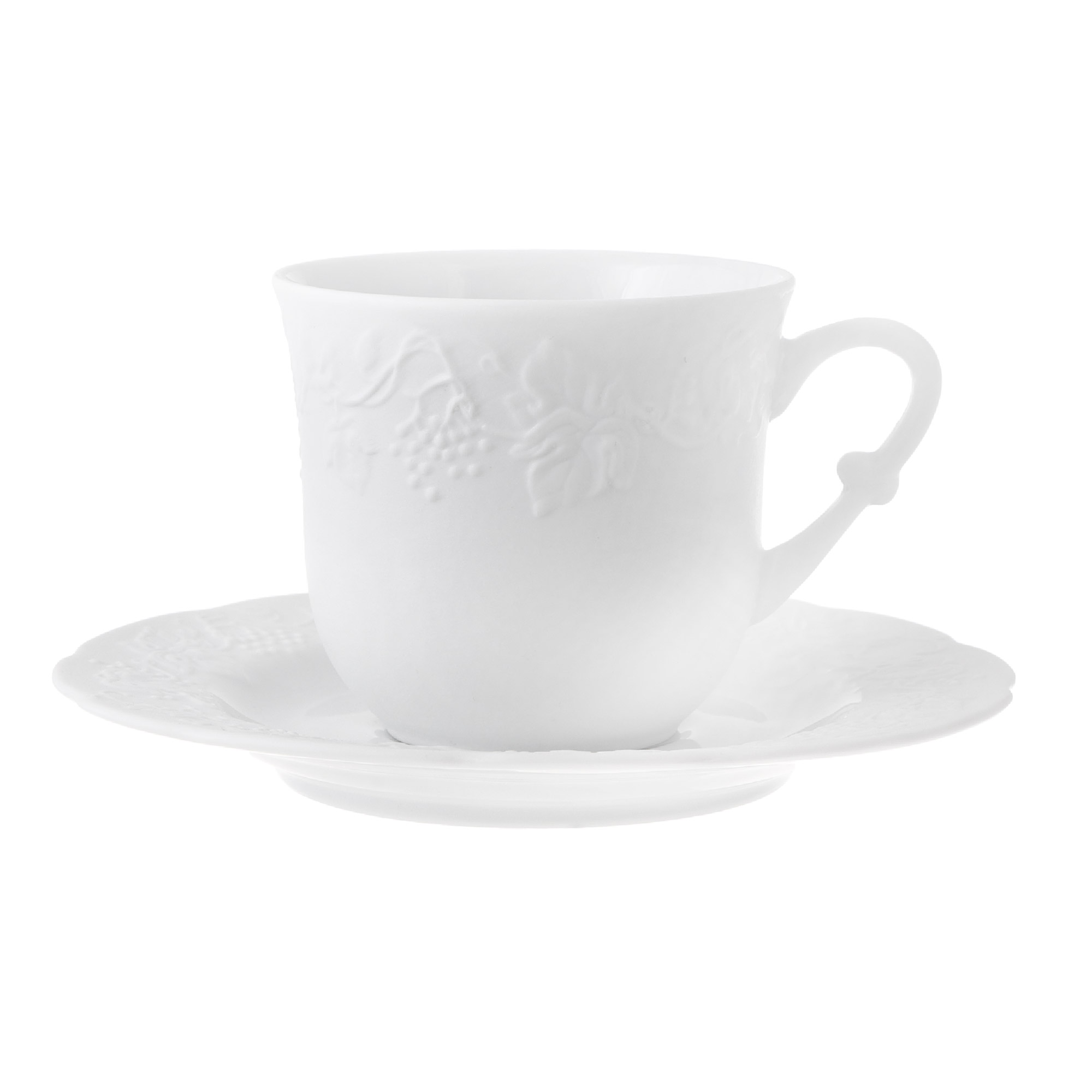 Набор чашка с блюдцем Yves de la Rosiere Blanc 220 мл