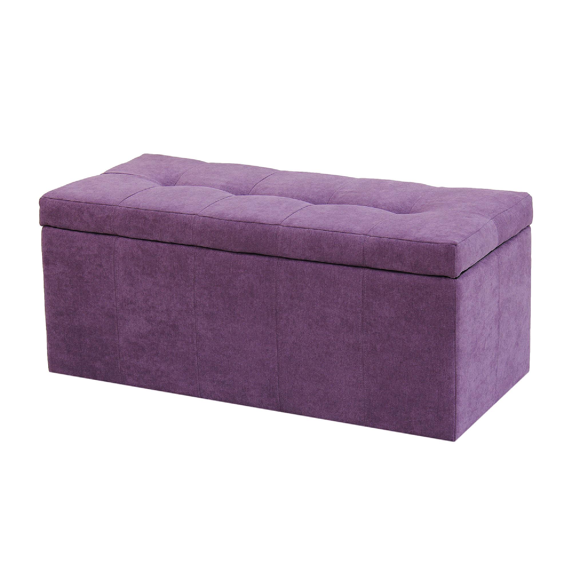 Банкетка Dreambag лонг фиолетовый велюр 100х46х46