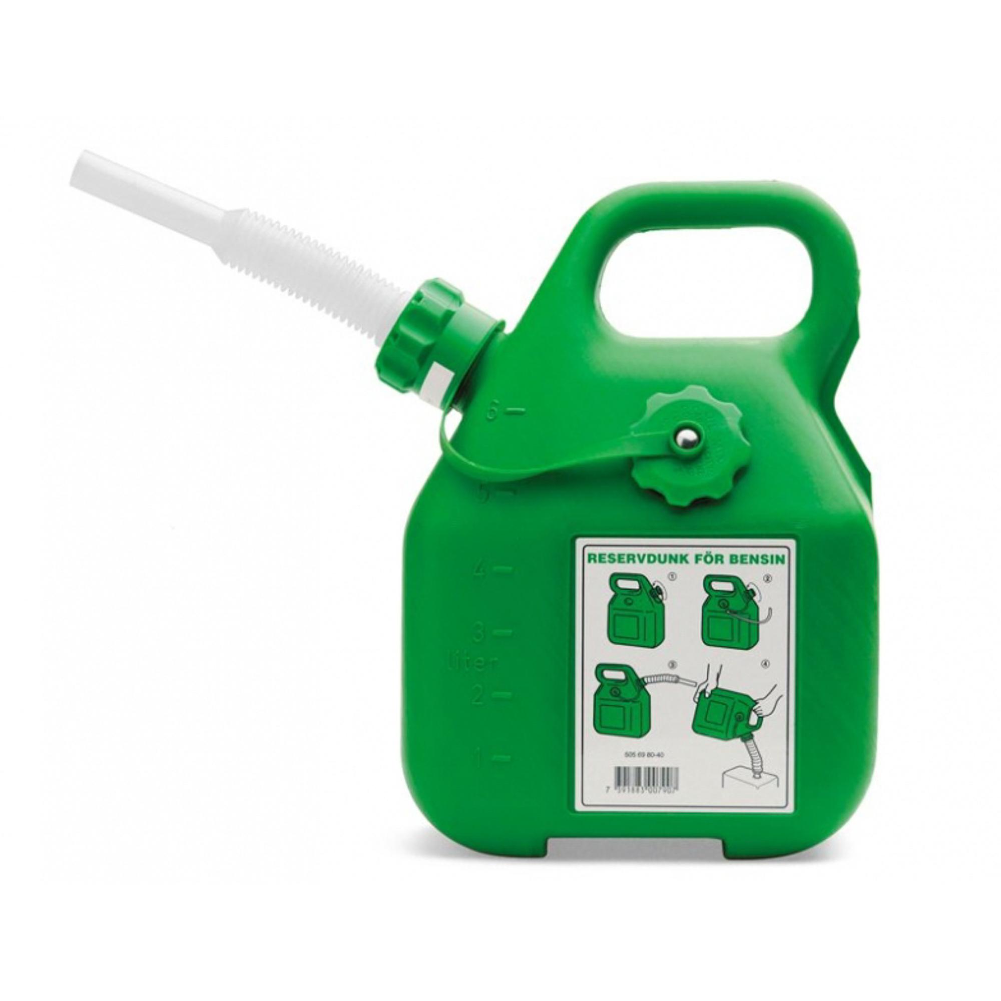 Канистра для бензина зеленая, 6 л Husqvarna