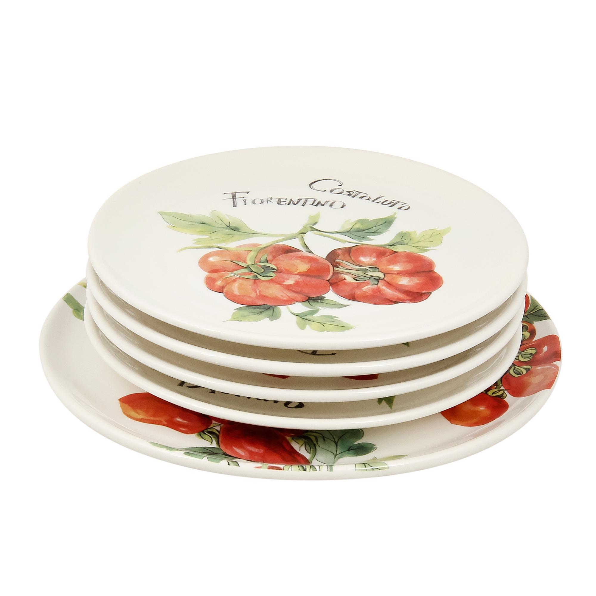 Набор тарелок Ceramica cuore tomatoes 1х29см 4х23см
