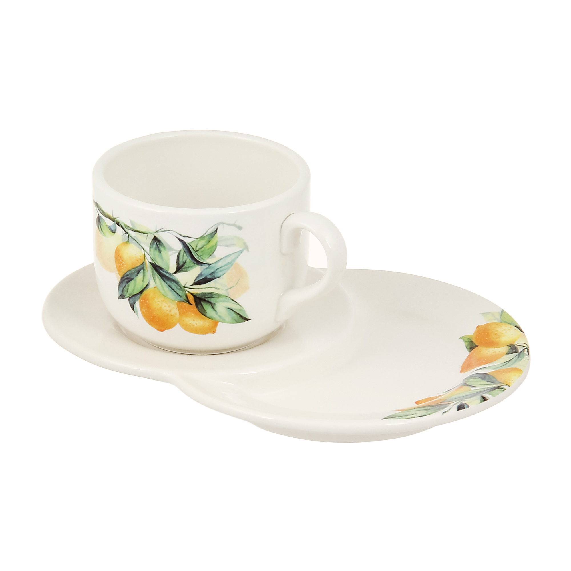 Пара чайная Ceramica cuore lemon 350мл фото