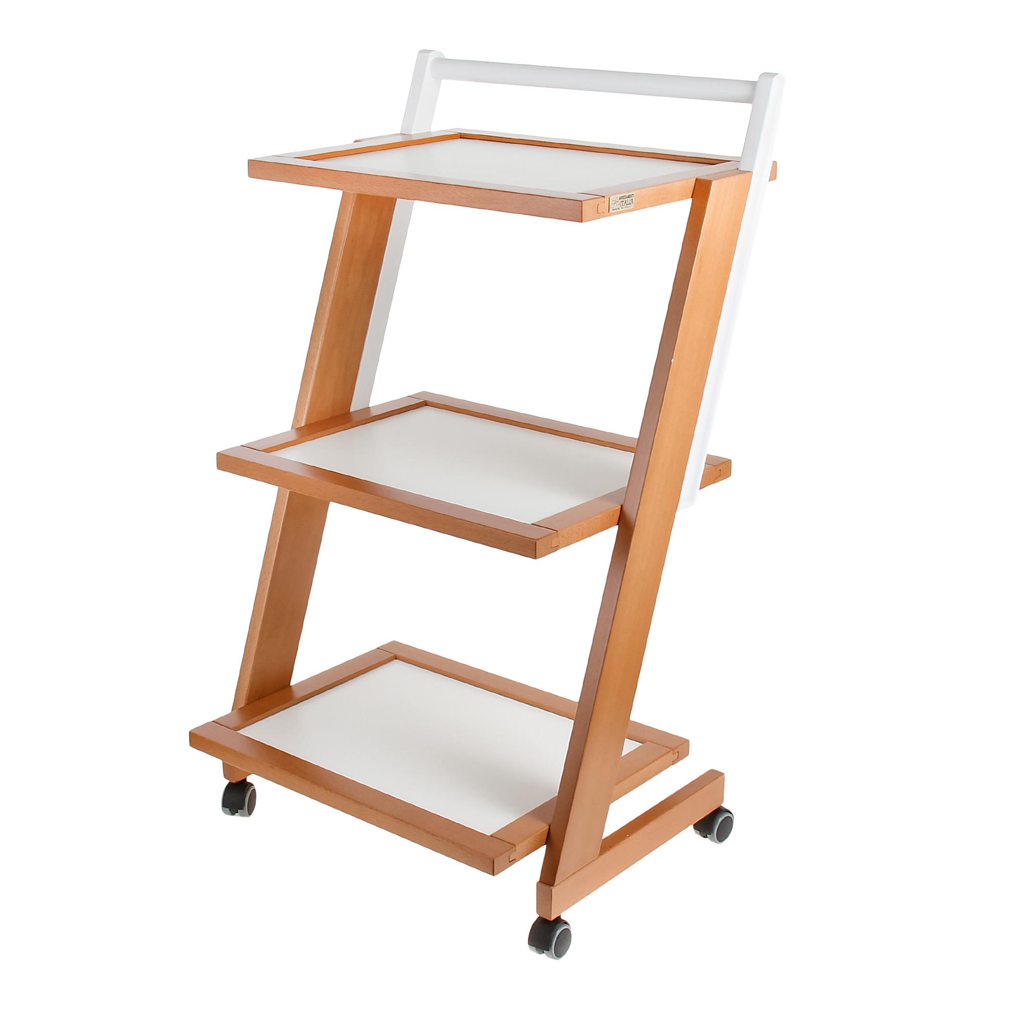 Купить Столик сервировочный на колесиках Arit zordan 3-х уровневый, Италия, дерево береза
