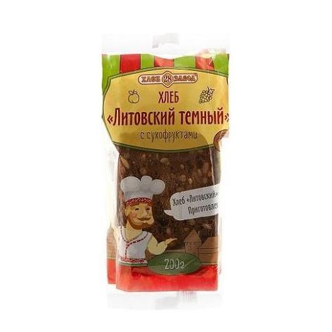 Хлеб Хлебозавод 28 Литовский темный с сухофруктами в нарезку 200
