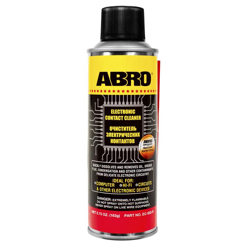 Фото - Очиститель электронных контактов (163 г) Abro очиститель двигателя abro dg 300 r 0 51 кг баллончик