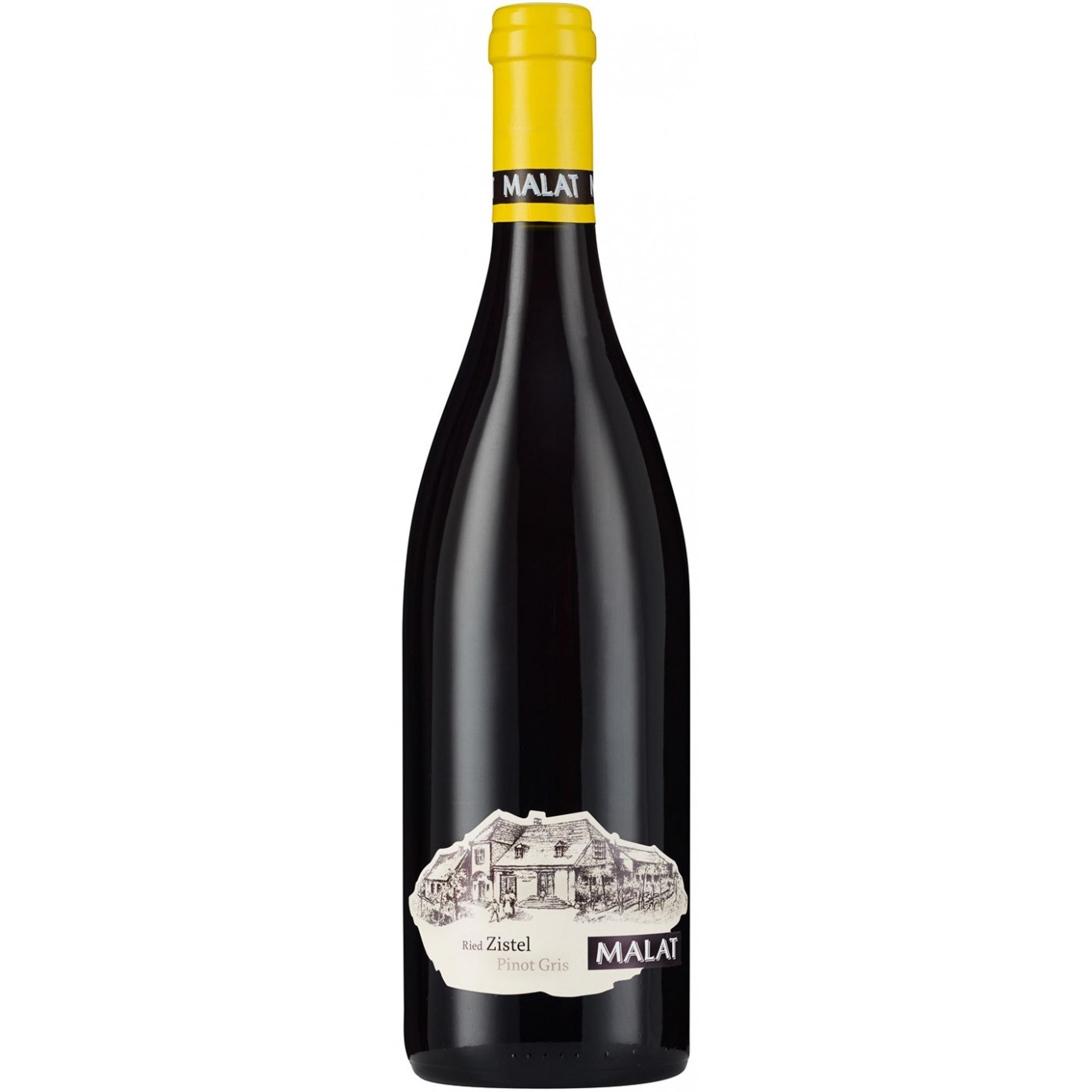 Купить Вино белое полусухое Malat Pinot Gris Zistel 0, 75 л, Австрия, Золотисто-желтый