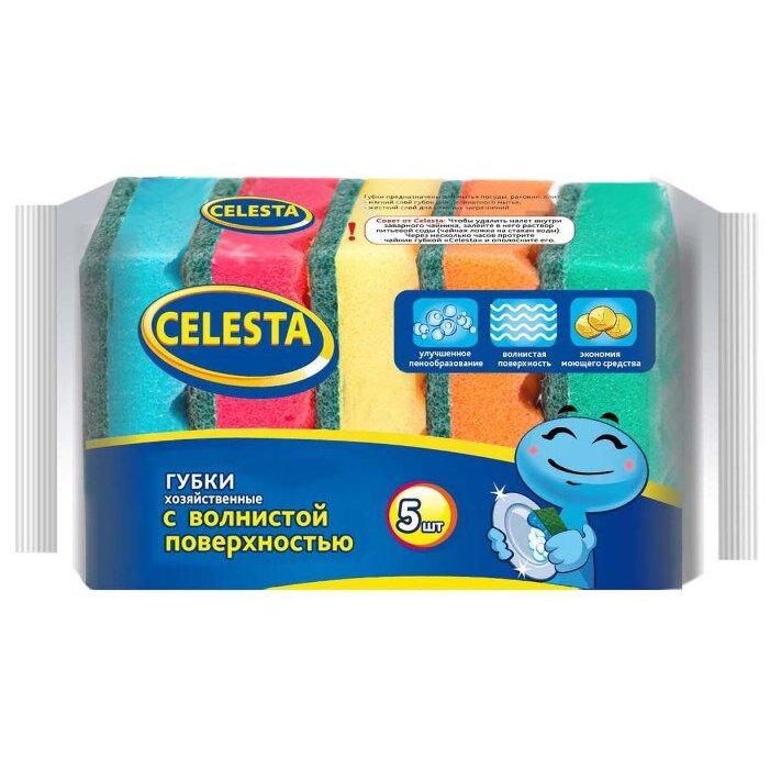 Губка для посуды Celesta Волна 5 шт
