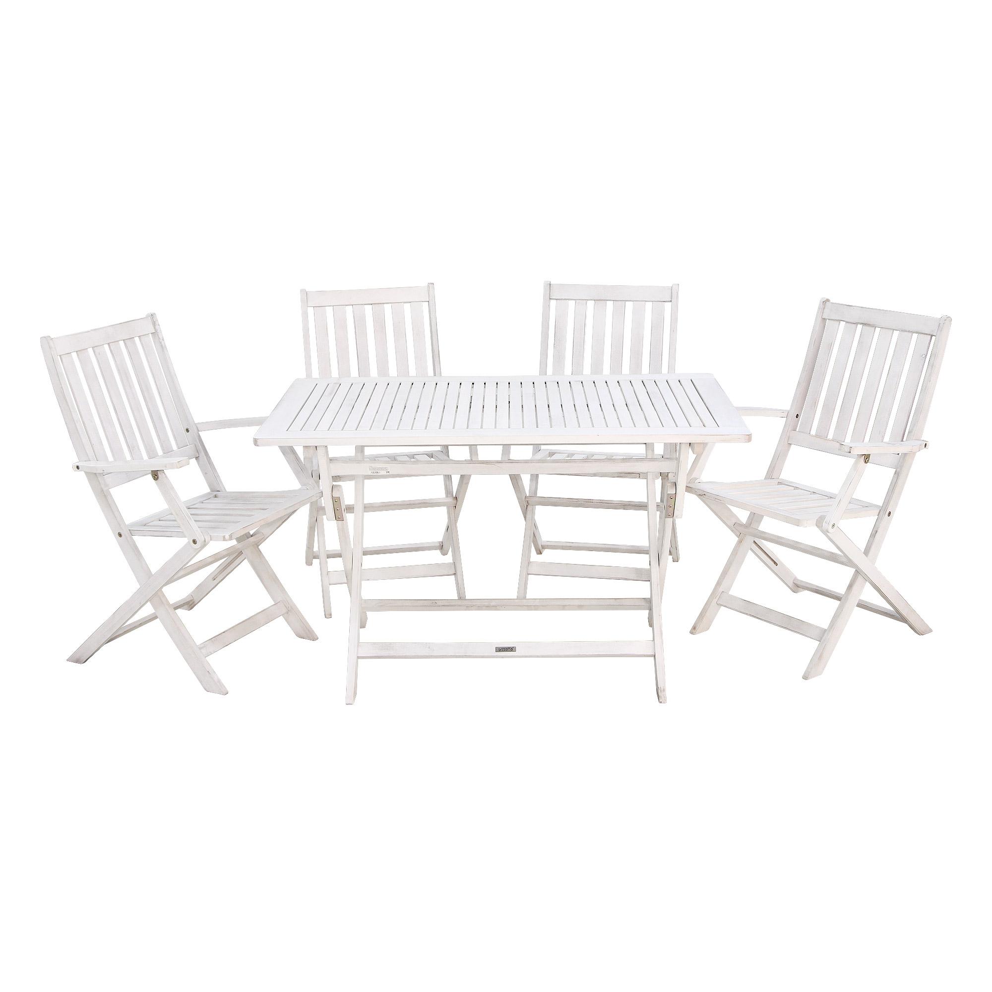 Комплект мебели Bizzotto octavia стол + 4 стула фото