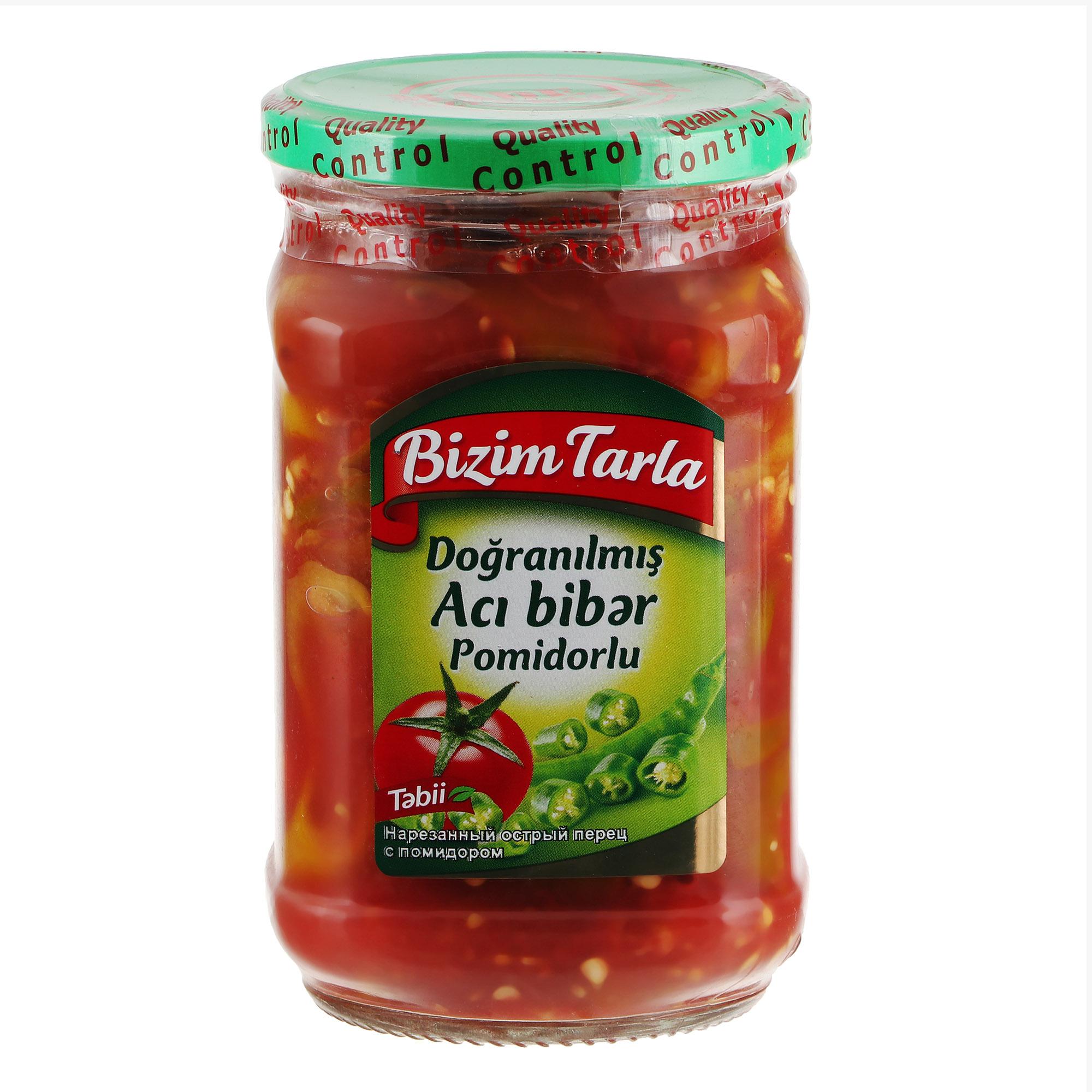 Ассорти Bizim Tarla томаты и острый перец 640 г перец острый buono ассорти 270 г