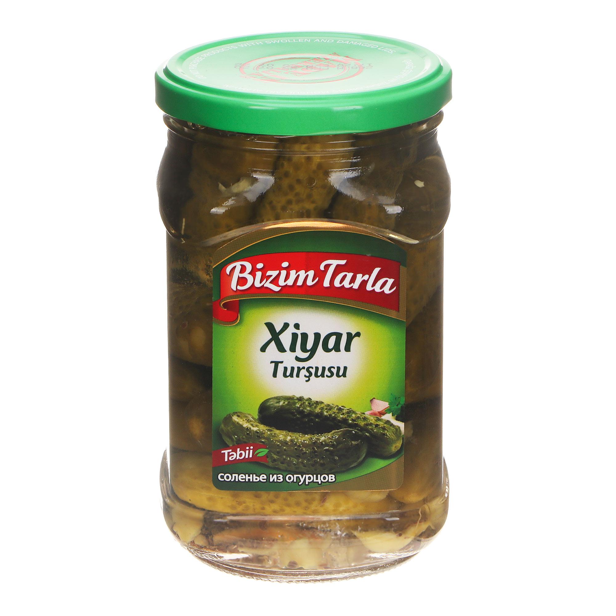Огурцы Bizim Tarla соленые, 670 г соленья из красных томатов bizim tarla 2 кг
