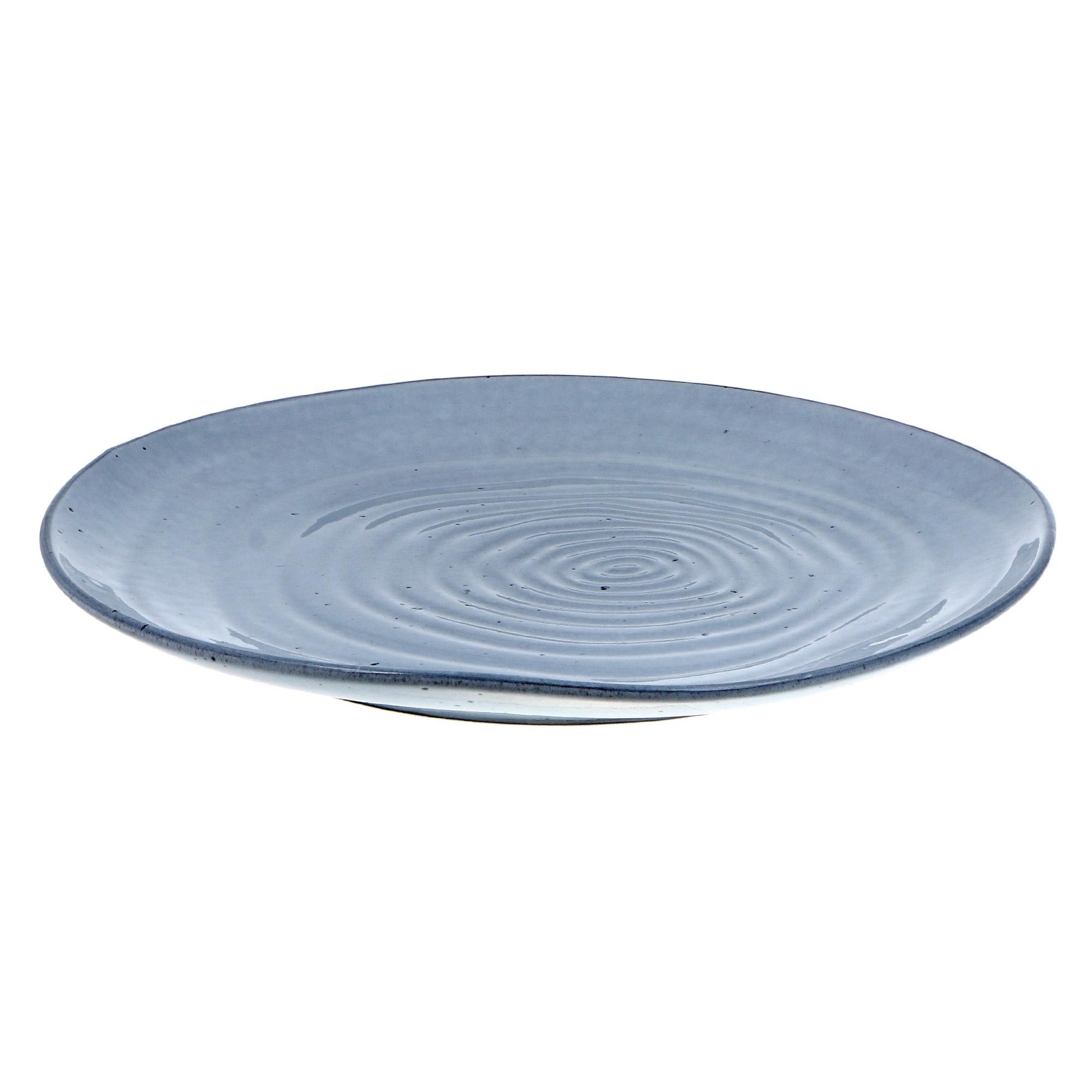 Купить Тарелка обеденная 26см Tognana vulcania waves celeste, Китай, фарфор