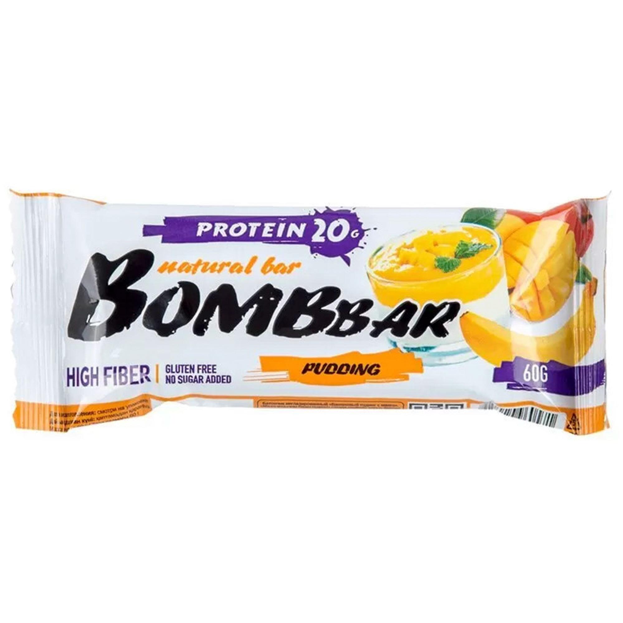 Батончик протеиновый Bombbar Манго, банан 60 г батончик протеиновый bombbar датский бисквит 60 г