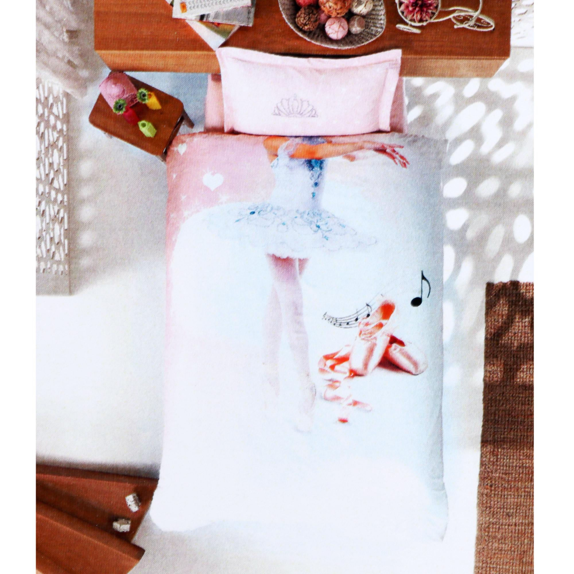 Купить со скидкой Постельный комплект Colors of fashion 1.5сп ранфорс балерина