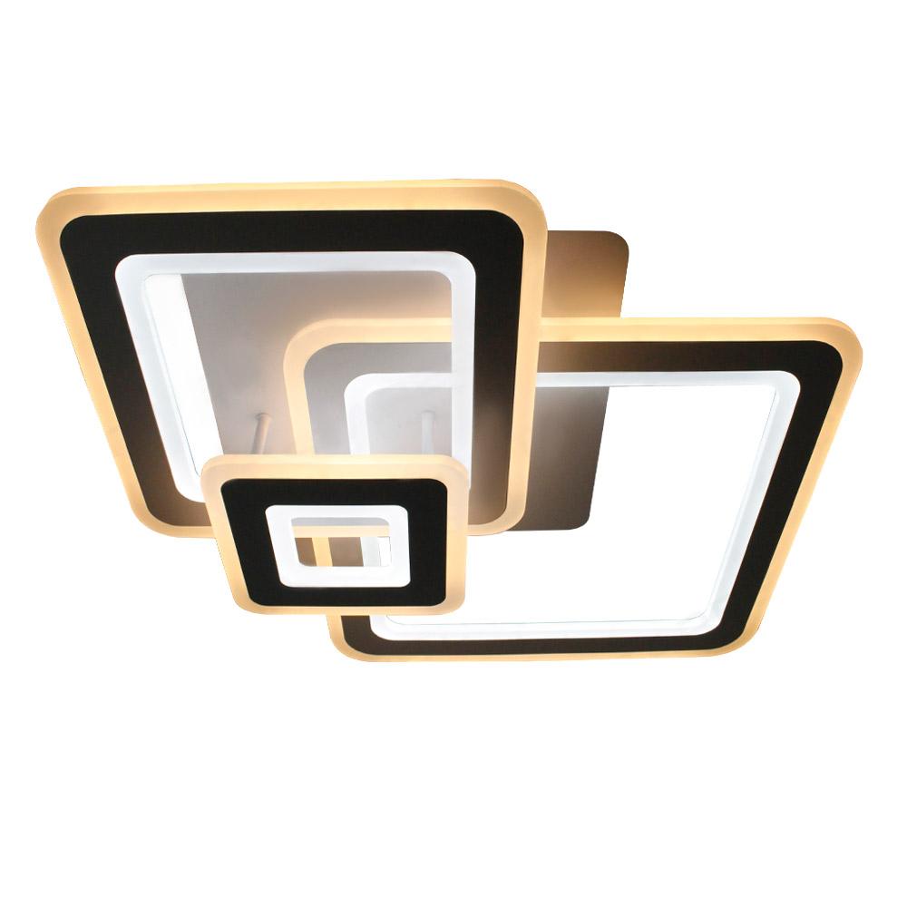Фото - Светильник управляемый светодиодный Estares Triplex Square управляемый светодиодный светильник estares liana muse 80w r 600 chrome opal 220 ip20
