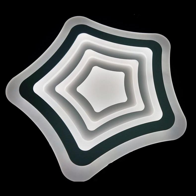 Фото - Светильник управляемый светодиодный Estares Flexion Double Silver управляемый светодиодный светильник estares liana muse 80w r 600 chrome opal 220 ip20