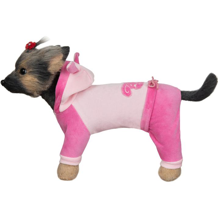 Комбинезон для собак DOGMODA Зайка велюровый 28 см фото