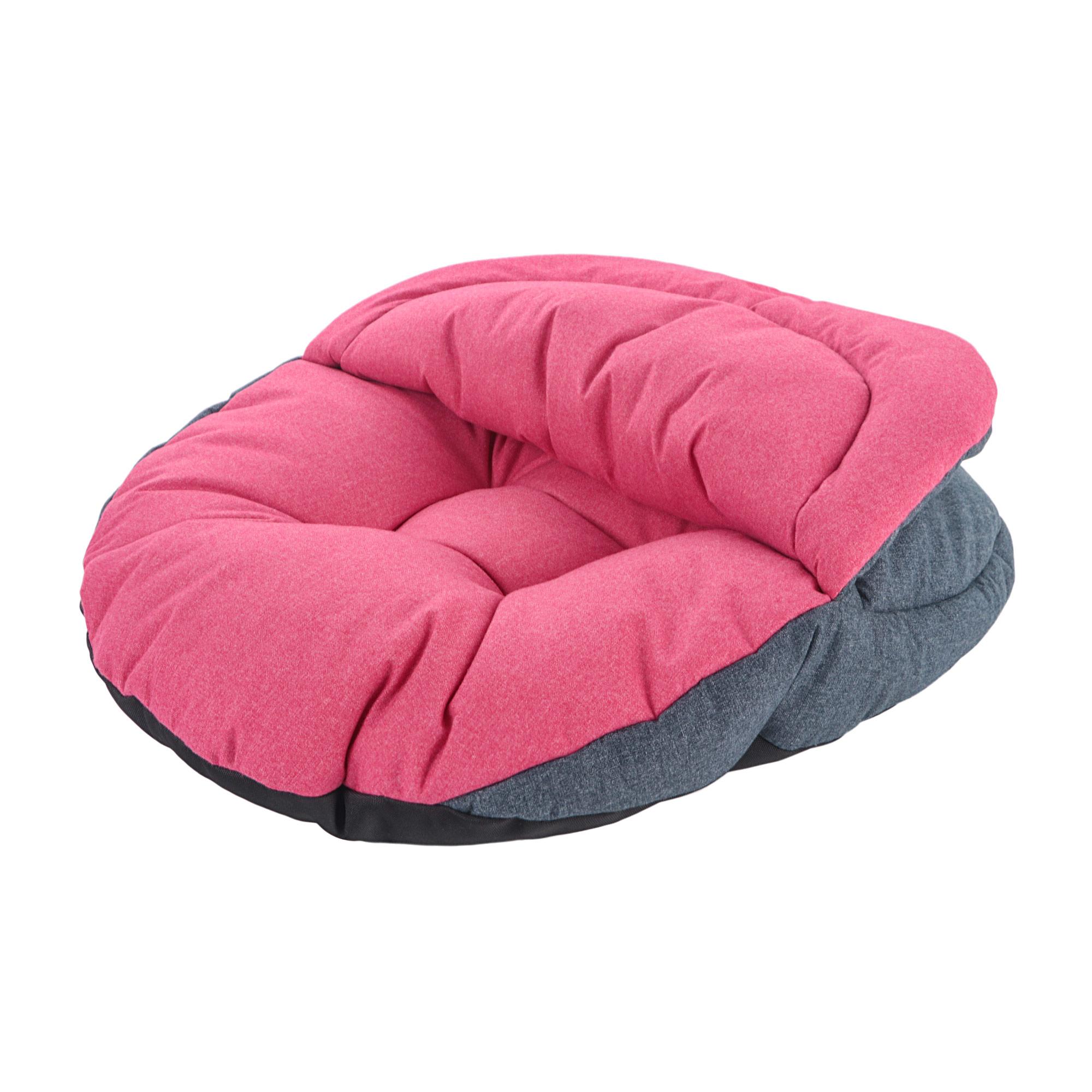 Лежанка-нора для собак colour Pretty Pet серо-розовая 45х48см