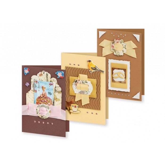 Набор для создания открыток Белоснежка Атласные ленты набор для создания открыток белоснежка веселая мозаика