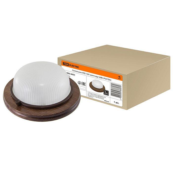 Светильник Tdm electric нпб1301 венге круг 60вт ip54