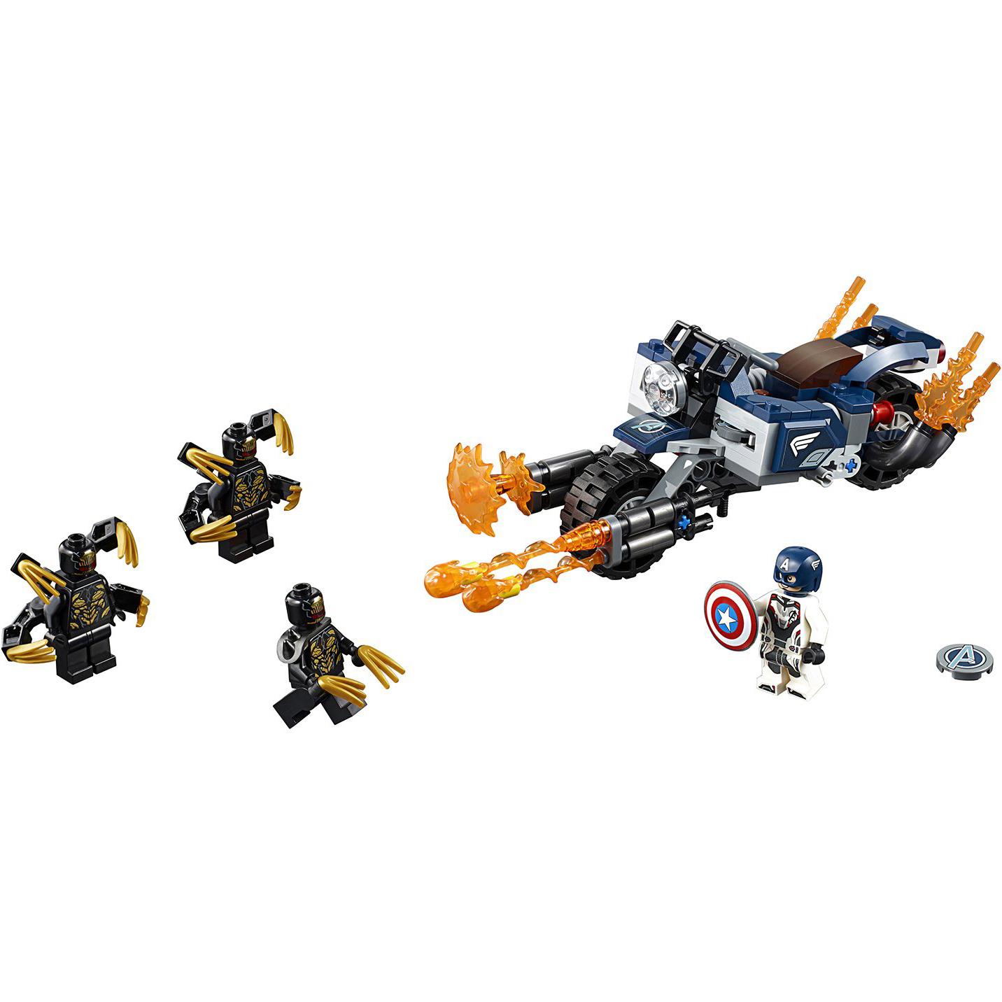Купить Конструктор Lego Super Heroes Капитан Америка: Атака Аутрайдеров 76123, пластик, для мальчиков, Конструкторы, пазлы