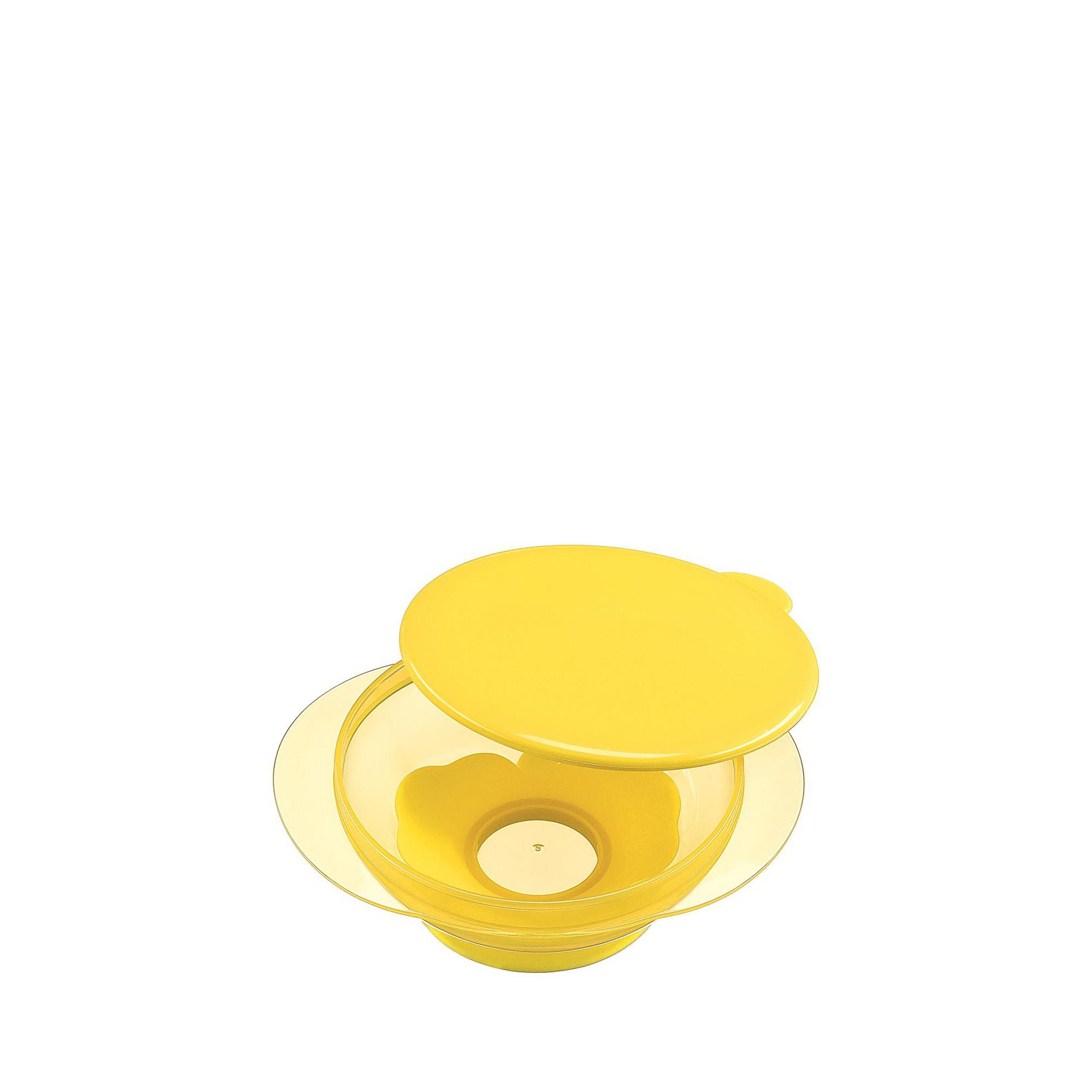 Купить Тарелка на присоске Happy Baby Lemon 14 см, Китай, желтый, полипропилен, термопластичный эластомер, Детская посуда и аксессуары