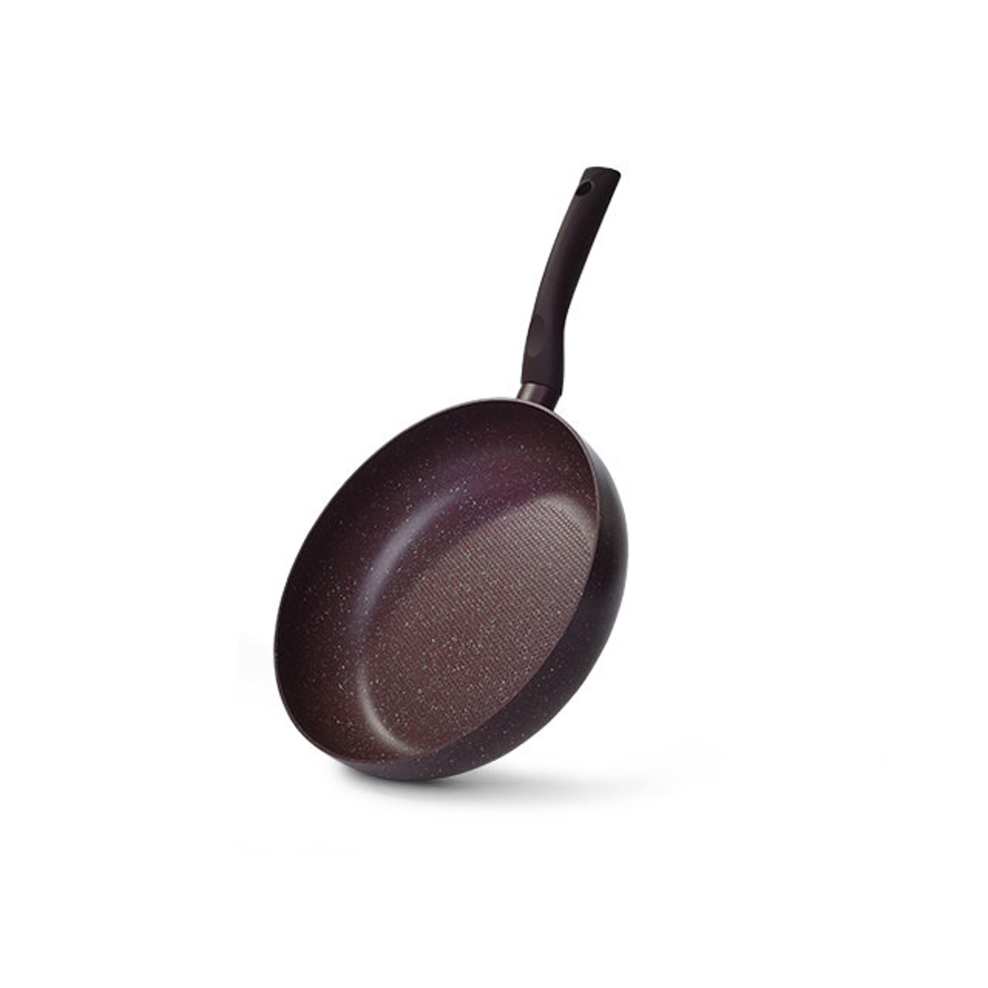 Купить Сковорода глубокая Fissman Mosses Stone 24 см, Дания, коричневый