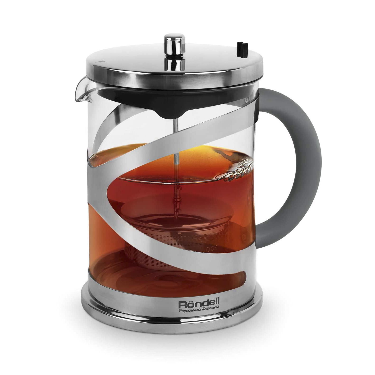Чайник заварочный Rondell Crystal Grey 1 л заварочный чайник 1 5 л lilac 5520010 1