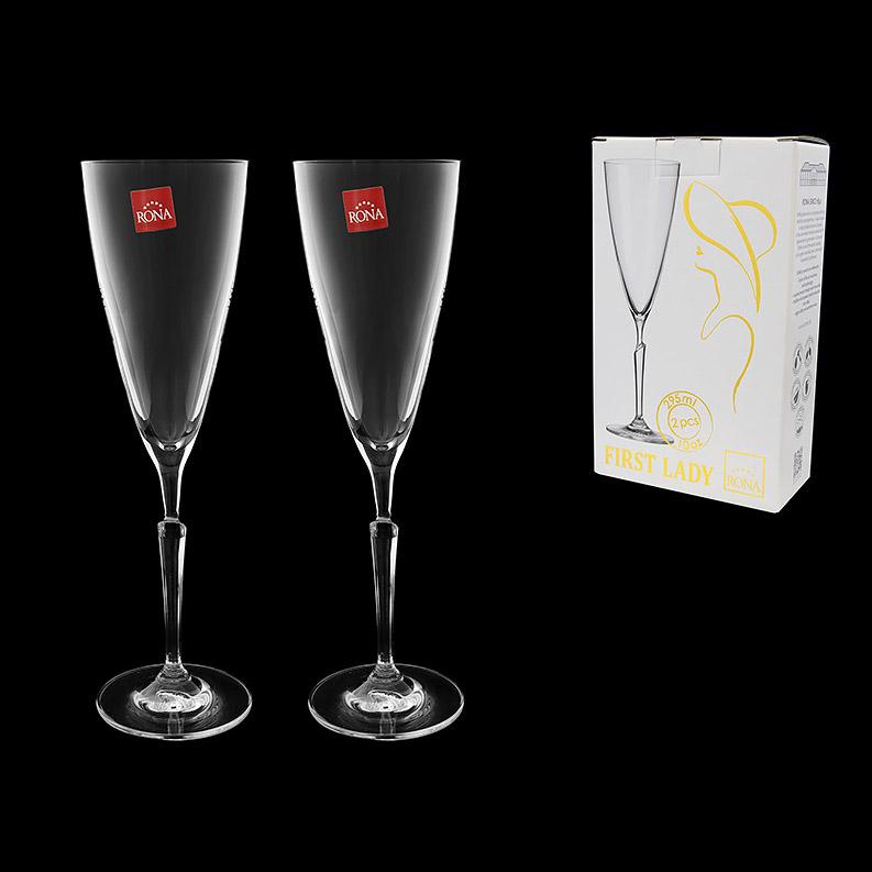 Набор бокалов для шампанского Rona First Lady 2х295 мл набор бокалов для шампанского виола 190 мл