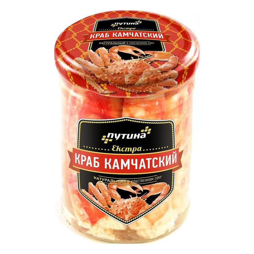 Краб Путина Экстра в собственном соку, 850 г